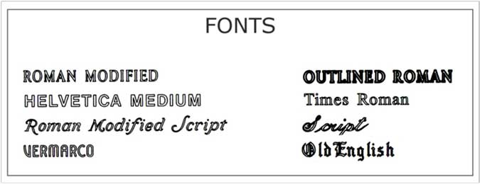 Engraving-Fonts
